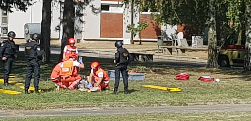 Dva tima Hitne medicinske službe na Godišnjoj vježbi interventne policije